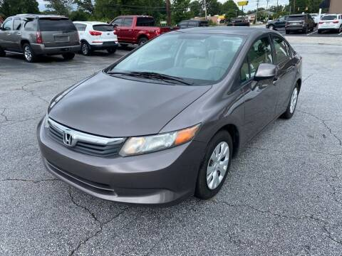 2012 Honda Civic for sale at Brewster Used Cars in Anderson SC