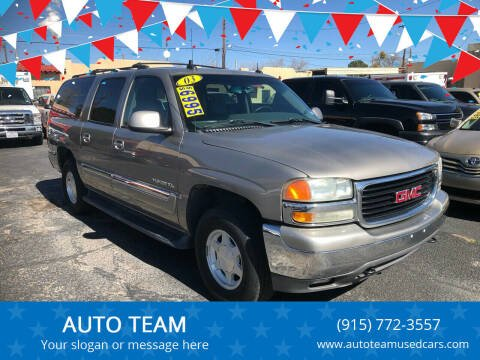 2003 GMC Yukon XL for sale at AUTO TEAM in El Paso TX