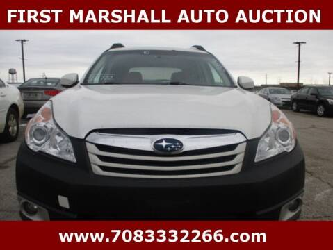 2010 Subaru Outback for sale at First Marshall Auto Auction in Harvey IL