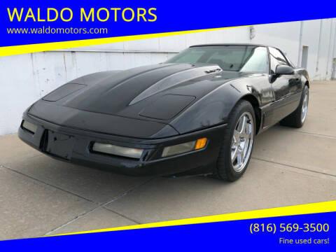 1995 Chevrolet Corvette for sale at WALDO MOTORS in Kansas City MO