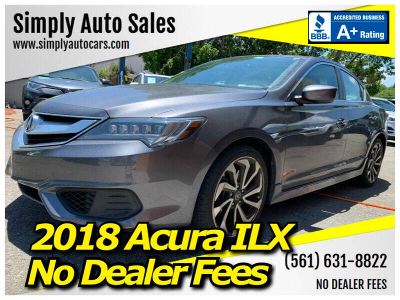 2018 Acura ILX for sale at Simply Auto Sales in Palm Beach Gardens FL