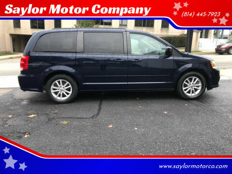 2016 Dodge Grand Caravan for sale at Saylor Motor Company in Somerset PA