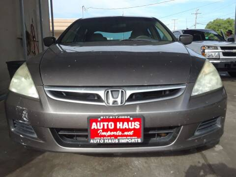 2007 Honda Accord for sale at Auto Haus Imports in Grand Prairie TX