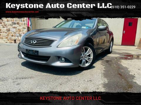 2010 Infiniti G37 Sedan for sale at Keystone Auto Center LLC in Allentown PA