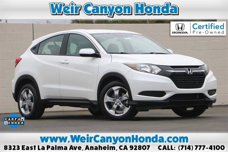 2018 Honda HR-V for sale in Anaheim, CA