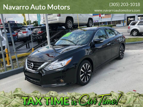 2018 Nissan Altima for sale at Navarro Auto Motors in Hialeah FL