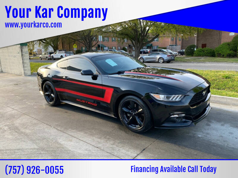 2015 Ford Mustang for sale at Your Kar Company in Norfolk VA