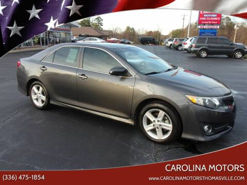 2012 Toyota Camry for sale at CAROLINA MOTORS in Thomasville NC