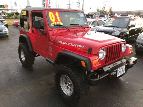 2001 Jeep Wrangler for sale at Texas 1 Auto Finance in Kemah TX
