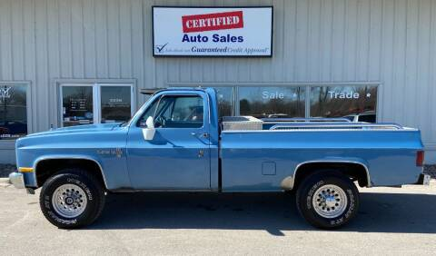 1987 Chevrolet R/V 20 Series for sale at Certified Auto Sales in Des Moines IA