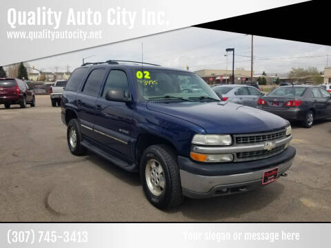 2002 Chevrolet Tahoe for sale at Quality Auto City Inc. in Laramie WY