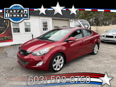 2013 Hyundai Elantra for sale at J & E AUTOMALL in Pelham NH