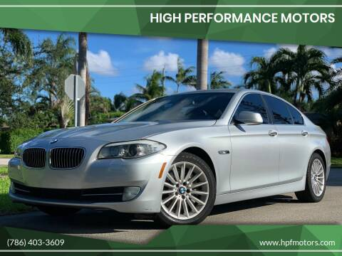 2011 BMW 5 Series for sale at HIGH PERFORMANCE MOTORS in Hollywood FL