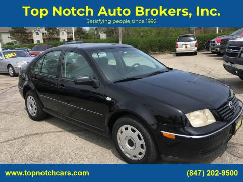 2004 Volkswagen Jetta for sale at Top Notch Auto Brokers, Inc. in Palatine IL