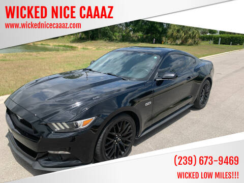 2015 Ford Mustang for sale at WICKED NICE CAAAZ in Cape Coral FL