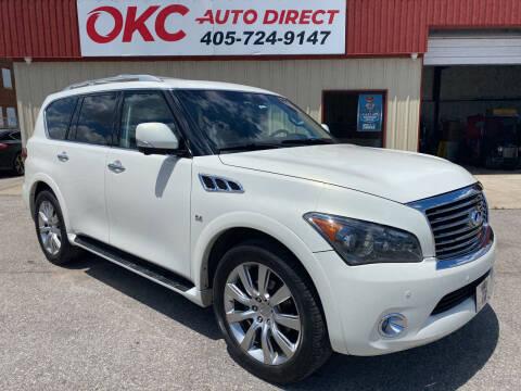 2014 Infiniti QX80 for sale at OKC Auto Direct in Oklahoma City OK