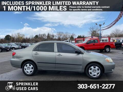 2004 Toyota Corolla for sale at Sprinkler Used Cars in Longmont CO