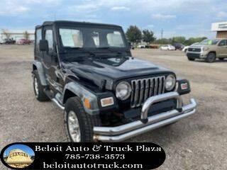 2000 Jeep Wrangler for sale at BELOIT AUTO & TRUCK PLAZA INC in Beloit KS