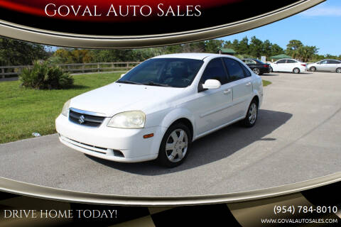 2006 Suzuki Forenza for sale at Goval Auto Sales in Pompano Beach FL