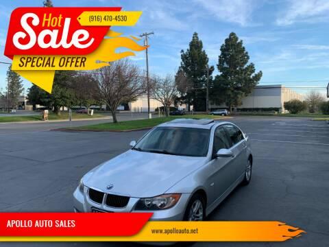 2008 BMW 3 Series for sale at APOLLO AUTO SALES in Sacramento CA