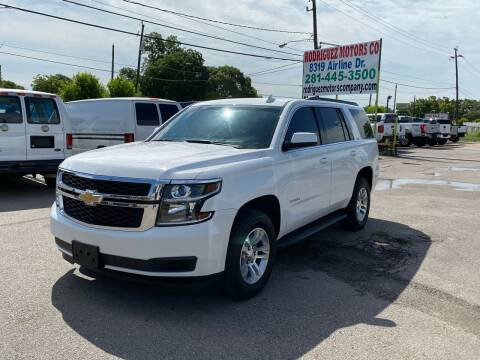 2015 Chevrolet Tahoe for sale at RODRIGUEZ MOTORS CO. in Houston TX
