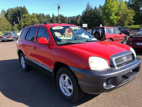 2003 Hyundai Santa Fe for sale at Freeborn Motors in Lafayette, OR