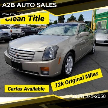 2003 Cadillac CTS for sale at A2B AUTO SALES in Chula Vista CA