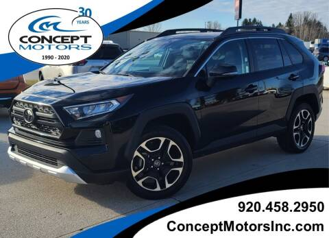 2019 Toyota RAV4 for sale at CONCEPT MOTORS INC in Sheboygan WI