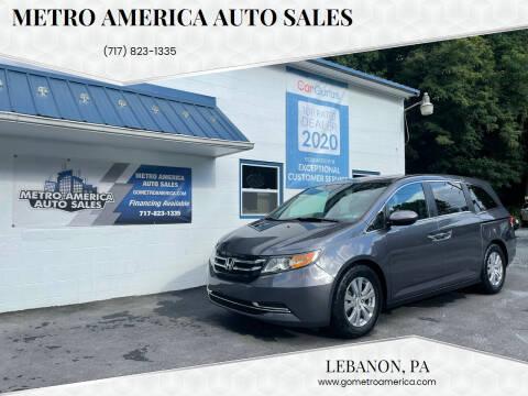 2016 Honda Odyssey for sale at METRO AMERICA AUTO SALES of Lebanon in Lebanon PA