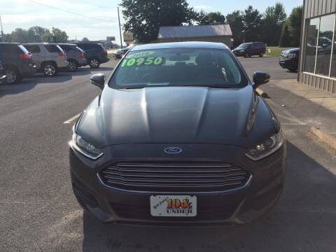 2016 Ford Fusion for sale at KEITH JORDAN'S 10 & UNDER in Lima OH