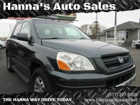 2005 Honda Pilot for sale at Hanna's Auto Sales in Indianapolis IN