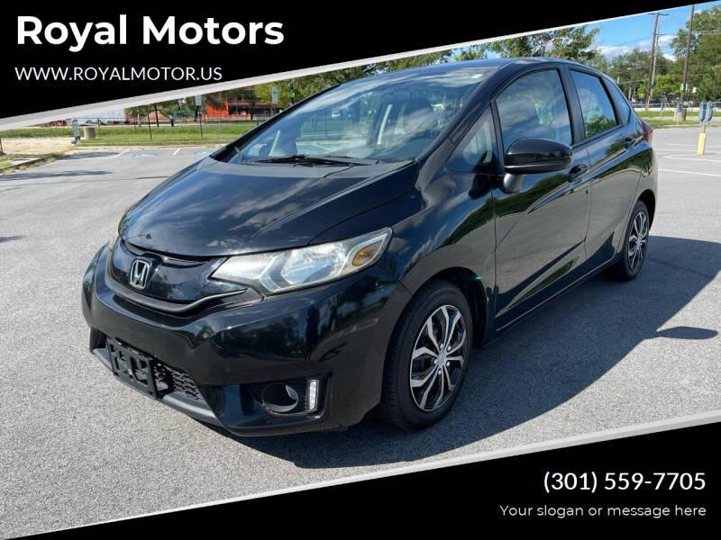 2016 Honda Fit for sale at Royal Motors in Hyattsville MD