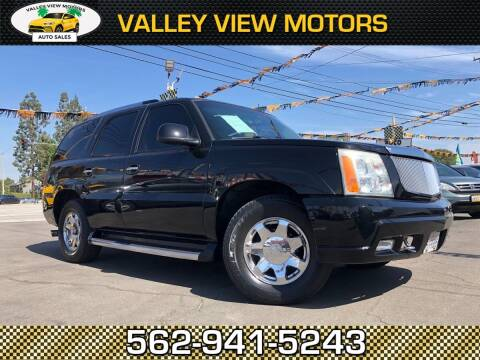 2003 Cadillac Escalade for sale at Valley View Motors in Whittier CA