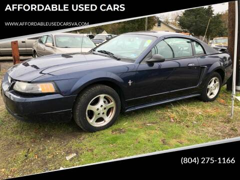 2002 Ford Mustang for sale at AFFORDABLE USED CARS in Richmond VA