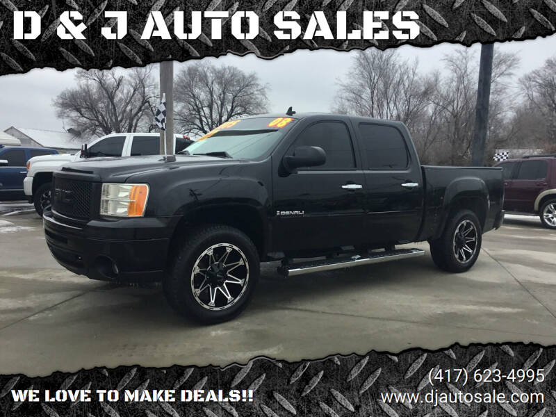 2008 GMC Sierra 1500 for sale at D & J AUTO SALES in Joplin MO
