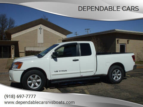2012 Nissan Titan for sale at DEPENDABLE CARS in Mannford OK