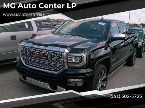 2017 GMC Sierra 1500 for sale at MG Auto Center LP in Lake Park FL
