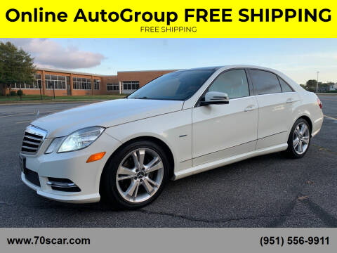 2012 Mercedes-Benz E-Class for sale at Online AutoGroup FREE SHIPPING in Riverside CA