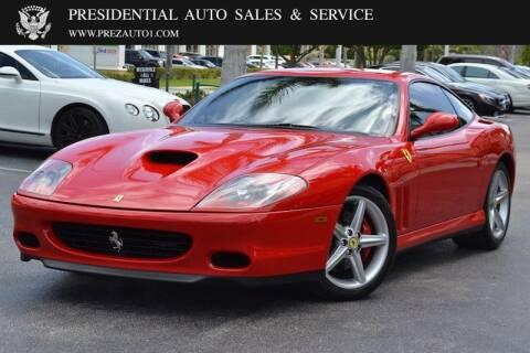 2003 Ferrari 575M for sale at Presidential Auto  Sales & Service in Delray Beach FL