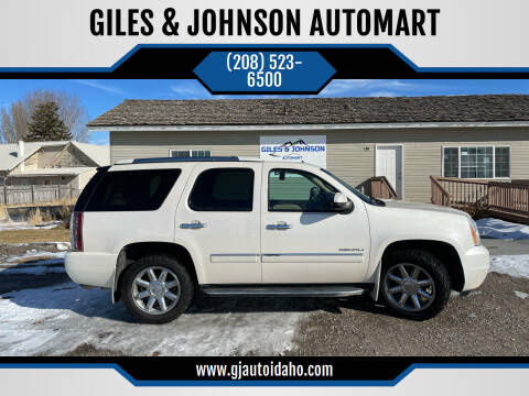 2013 GMC Yukon for sale at GILES & JOHNSON AUTOMART in Idaho Falls ID