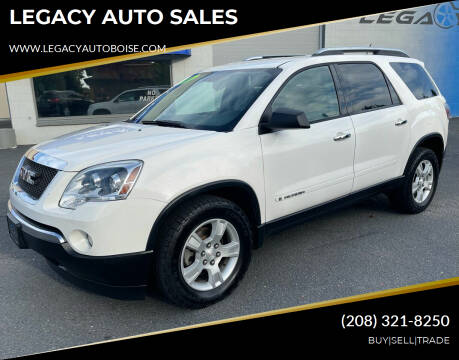 2008 GMC Acadia for sale at LEGACY AUTO SALES in Boise ID