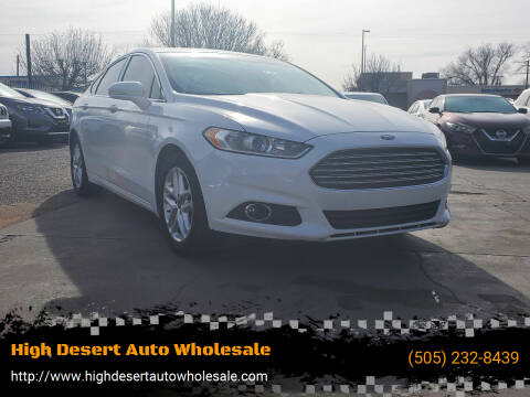 2016 Ford Fusion for sale at High Desert Auto Wholesale in Albuquerque NM