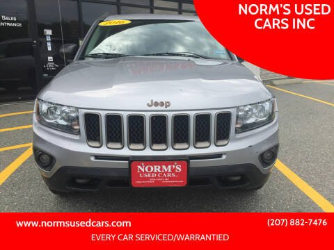 2016 Jeep Compass for sale at NORM'S USED CARS INC in Wiscasset ME