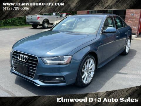 2016 Audi A4 for sale at Elmwood D+J Auto Sales in Agawam MA