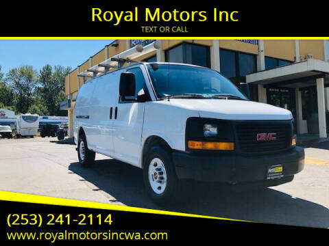 2015 GMC Savana Cargo for sale at Royal Motors Inc in Kent WA