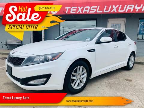 2013 Kia Optima for sale at Texas Luxury Auto in Cedar Hill TX