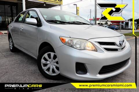 2011 Toyota Corolla for sale at Premium Cars of Miami in Miami FL