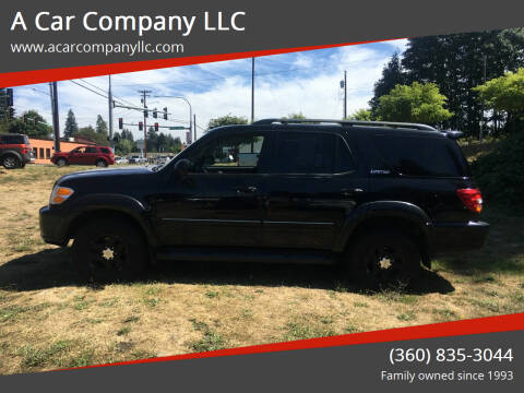 2001 Toyota Sequoia for sale at A Car Company LLC in Washougal WA