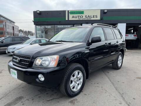 2003 Toyota Highlander for sale at Wakefield Auto Sales of Main Street Inc. in Wakefield MA