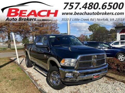2011 RAM Ram Pickup 2500 for sale at Beach Auto Brokers in Norfolk VA